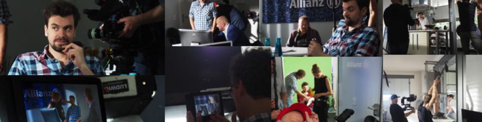 Dreharbeiten für Filme zur Allianz ABV-Herbstwerbung
